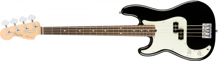 Fender American Professional Precision Bass Lefthand (Rosewood/Black/inkl. Case)