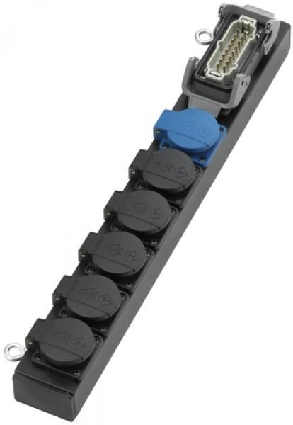 MAJOR Slimline Lastverteiler (1x Harting/6x T13/Aluminium)