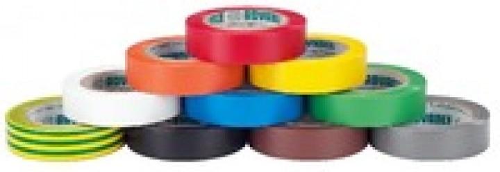 Monacor AT-206 PVC-Klebebandsatz (10 Rollen, diverse Farben)