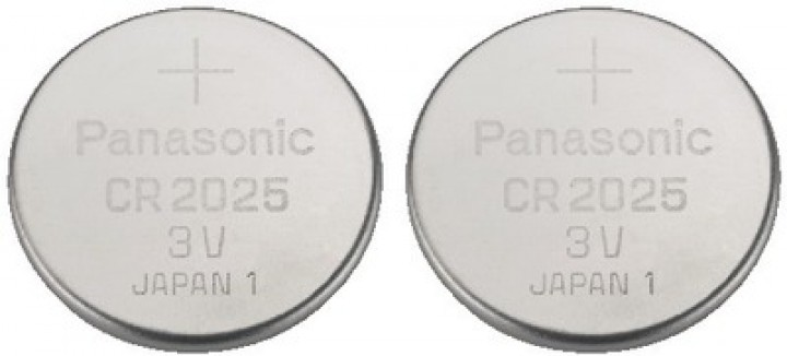 Panasonic CR-2025 Lithium-Batterie (2 Stück/165mAh)
