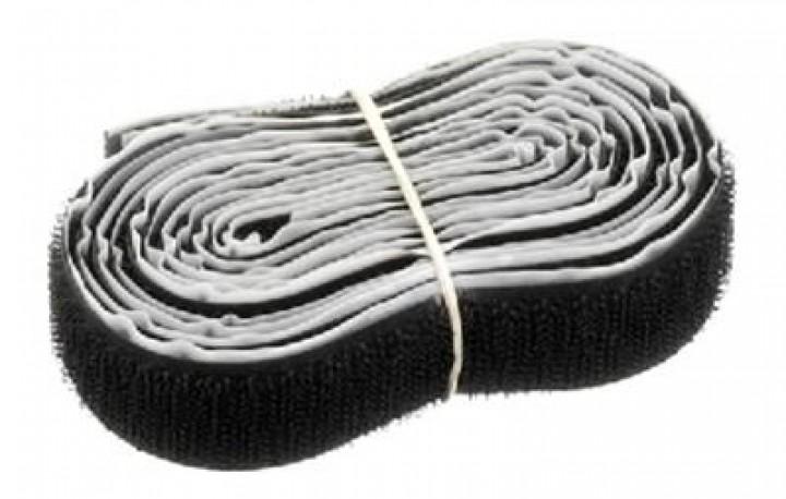Monacor CS-2100/SW Klettband (selbstklebend/100cm/schwarz)