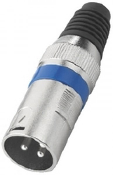 XLR-207P/BL XLR-Stecker (3-Pol/blau)