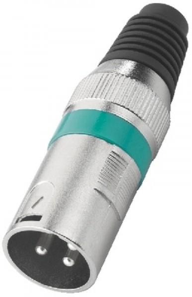 XLR-207P/GN XLR-Stecker (3-Pol/grün)