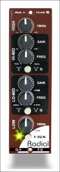 Radial Q4 EQ 500 4-Band Equalizer Modul