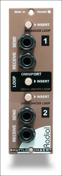 Radial Shuttle 500 Interface/Effekt-Send/Return Modul