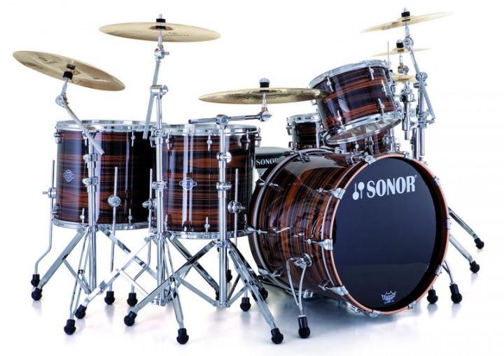 SONOR ASC 11 Studio WM Drumset (Ebony Stripes/BD 20