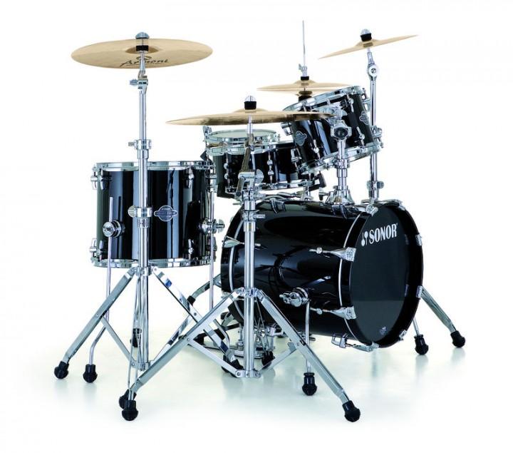 SONOR SEF 11 Stage 2 WM Drumset (Piano Black/BD 22