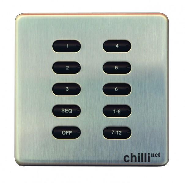 Zero 88 Chilli Abrufstation 10 Tasten (Stahl)