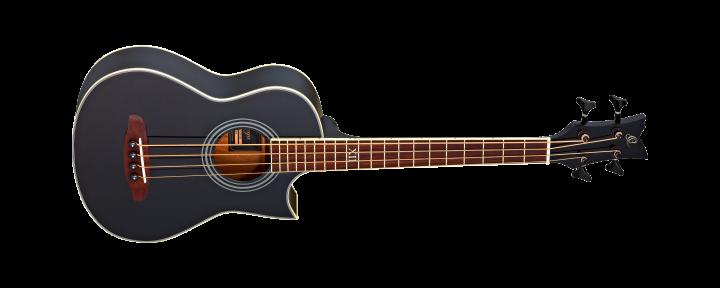 Ortega D-WALKER-BK Traveler Bass (agathis top/agathis body/preamp/black/inkl. Gigbag)
