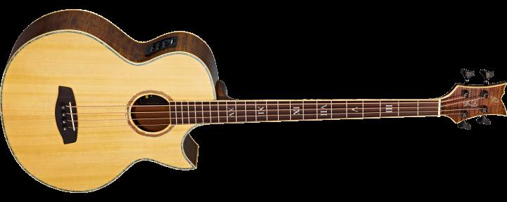 Ortega KTSM-4 Signature Akustikbass (Ken Taylor/4-string/long scale/preamp/inkl. Gigbag)