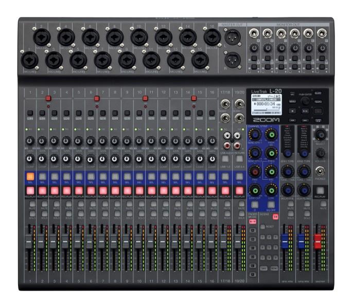 Zoom L-20 LiveTrak Recorder (20-Kanal)