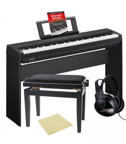 yamaha p 45b digital piano bundle piano bundles bundle. Black Bedroom Furniture Sets. Home Design Ideas