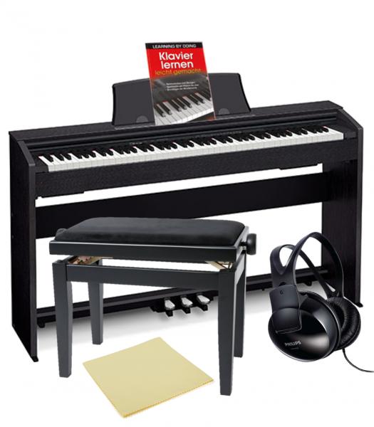 Casio PX-770BK Privia Digital Piano BUNDLE (schwarz)