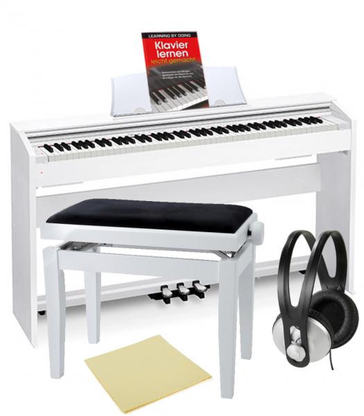 Casio PX-770WE Privia Digital Piano BUNDLE (weiss)