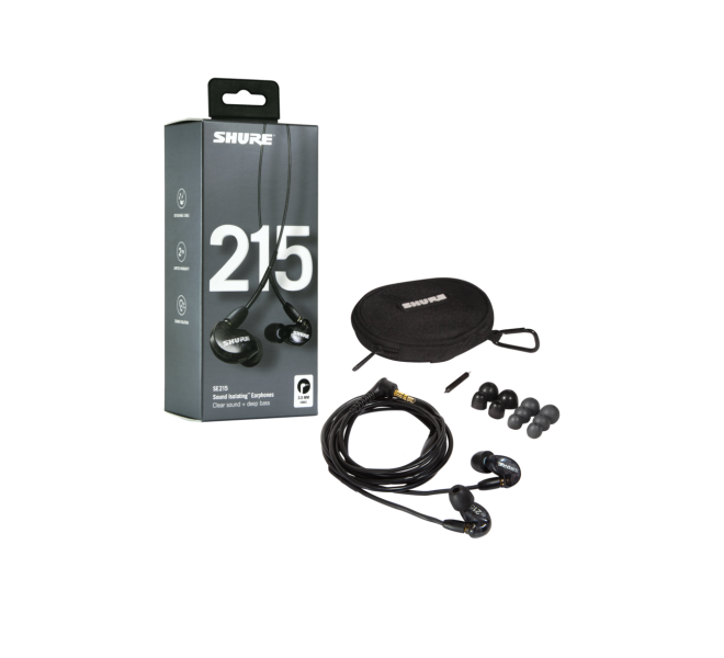 Shure SE215-K-EFS Sound Isolation Ohrhörer (schwarz)